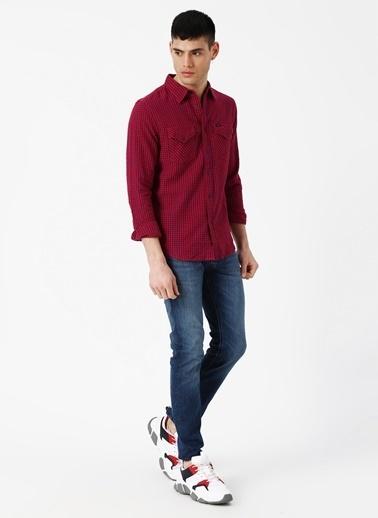 Lee&Wrangler Lee L644NLEF Kırmızı Erkek Gömlek Kırmızı